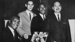 Lewie Steinberg, far right, with Booker T And The MGs