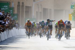 Phil Bauhaus moved across the road to beat Nacer Bouhanni and so win the 2020 Saudi Tour