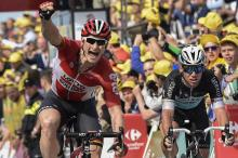 Andre Greipel wins stage 2 of the 2015 Tour de France.
