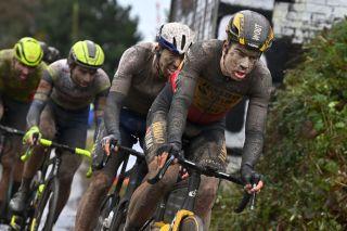 Wout van Aert (Jumbo-Visma) during Paris-Roubaix 2021