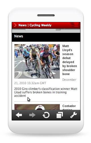 Cycling Weekly mobile device site
