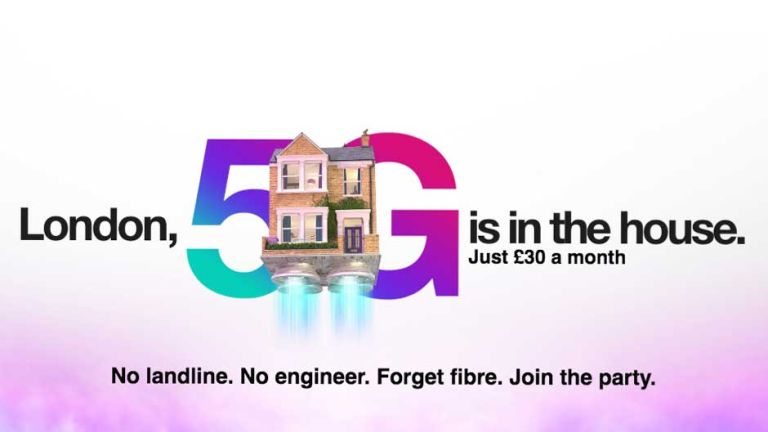5G broadband banner from Three