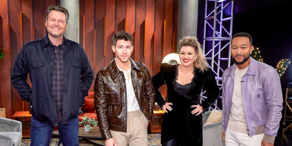 The Voice season 20 coaches Blake Shelton, Nick Jonas, Kelly Clarkson, John Legend