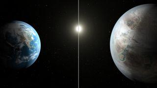 Earth and Kepler-452b