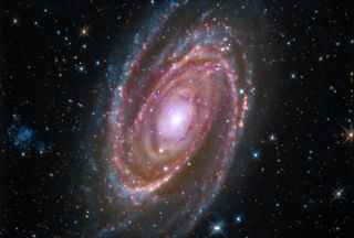The spiral galaxy M81 is located about 12 million light-years away from Earth.