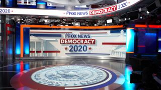 The Fox News studio prepped to cover the 2020 election