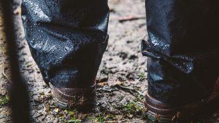 Waterproof trousers in the rain