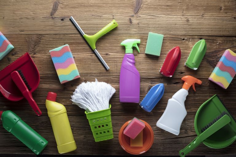 Amazon Prime Day cleaning deals: Cleaning products on a floor
