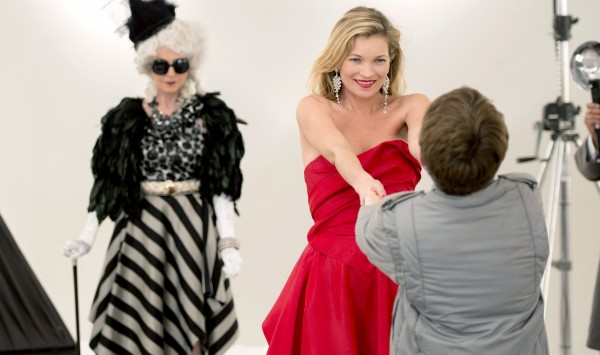 A picture of Kate Moss in the adaptation of David Walliams's book The Boy In The Dress