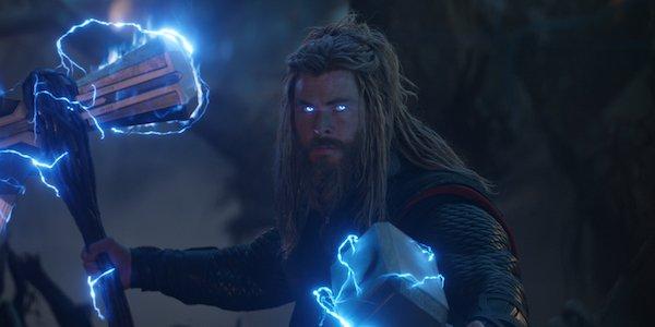 Thor with Mjolnir and Stormbreaker in Avengers: Endgame