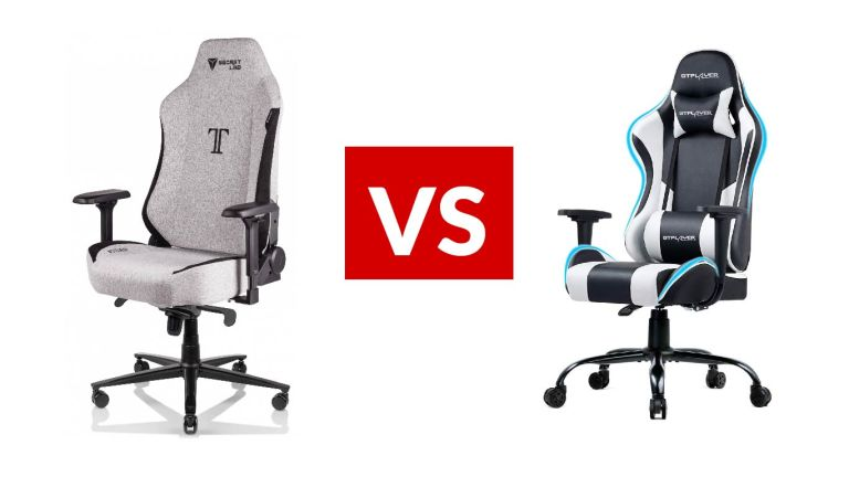 SmartLab Titan SoftWeave Fabric Gaming Chair vs GTPlayer Gaming Chair