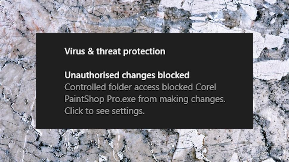 Controlled Folders Alert