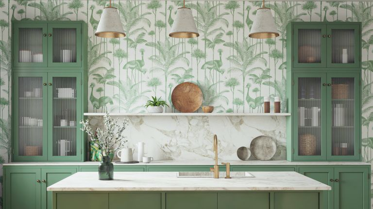 country wallpaper ideas for kitchens