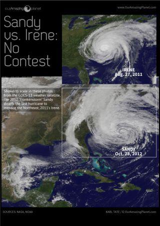 Sandy vs. Irene Infographic