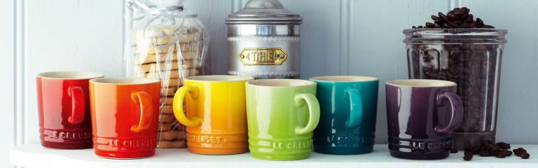 Le Creuset rainbow mugs
