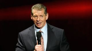 WWE Chairman and CEO Vince McMahon speaks at a news conference announcing the WWE Network at the 2014 International CES at the Encore Theater at Wynn Las Vegas on Jan. 8, 2014 in Las Vegas, Nevada.