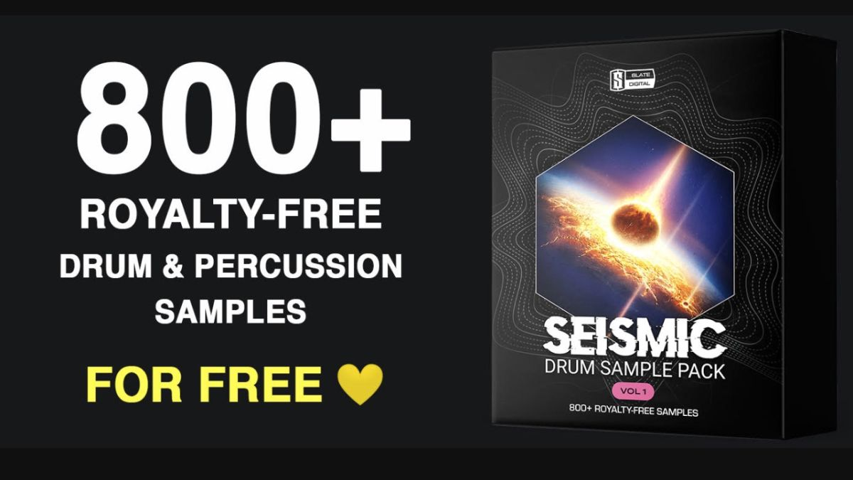 Slate Digital Seismic gives you over 800 drum samples, and it's being released for free!
