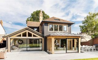 Contemporary oak frame home