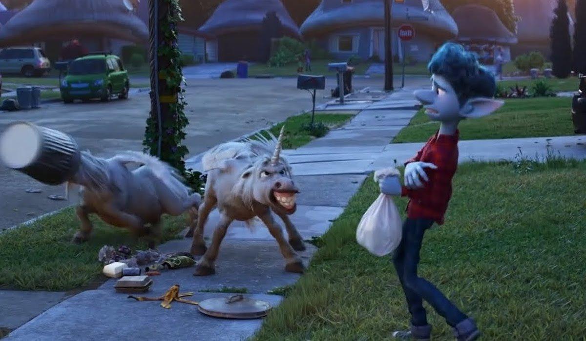 unicorns and Ian Lightfoot in Onward