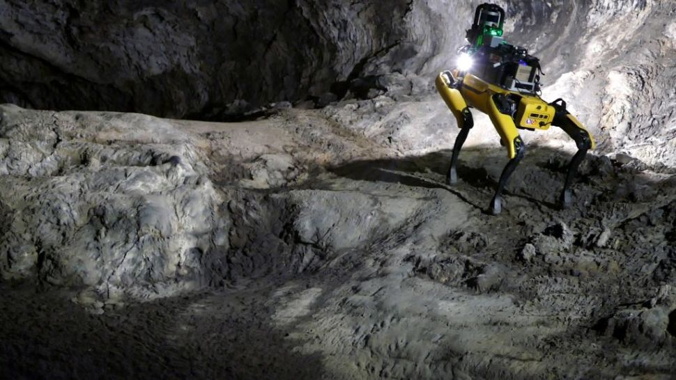 Meet Au-Spot, the AI robot dog that's training to explore caves on Mars