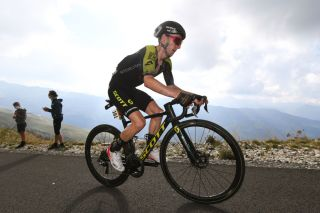 Adam Yates (Mitchelton-Scott) climbs to eighth place on the Col de la Loze on stage 17 of the 2020 Tour de France, retaining his fifth place on the GC