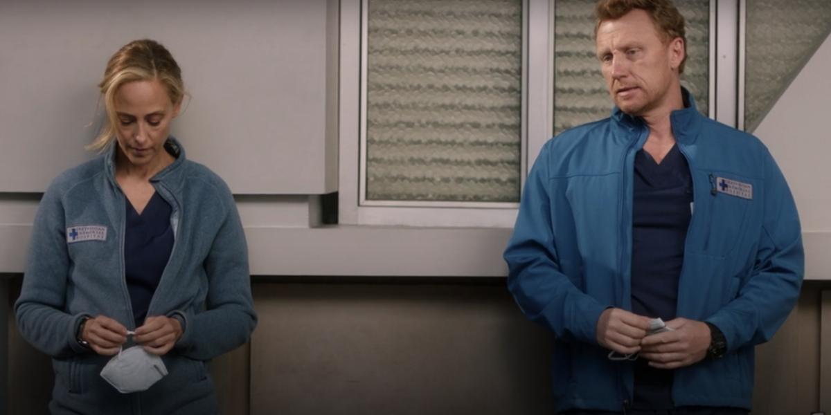Grey's Anatomy Teddy Altman Owen Hunt breakup outside hospital