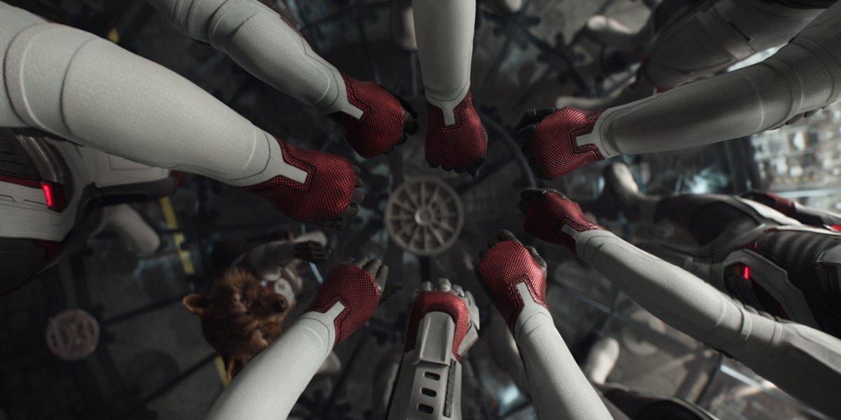 hands in in Avengers Endgame