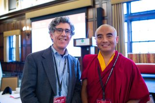 Richard Davidson (left), founder and director of the Center for Healthy Minds at the University of Wisconsin-Madison, and Yongey Mingyur Rinpoche (right), the Buddhist Tibetian Monk who participated in the study on brain aging, in a recent photo.