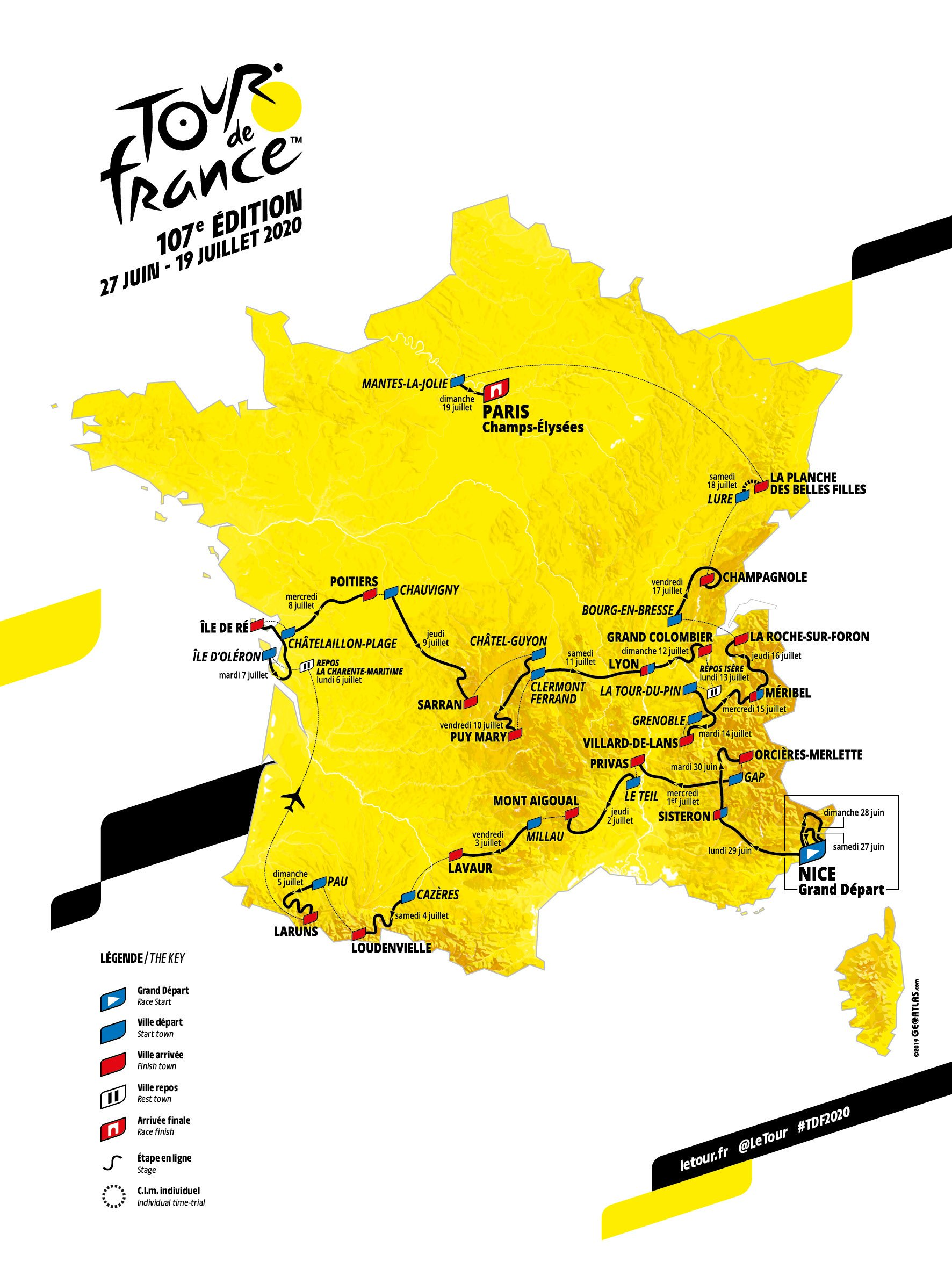 2020 Tour De France Stages.Tour De France 2020 Route Revealed Cyclingnews