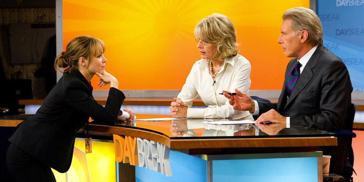 Rachel McAdams, Diane Keaton, and Harrison Ford in Morning Glory