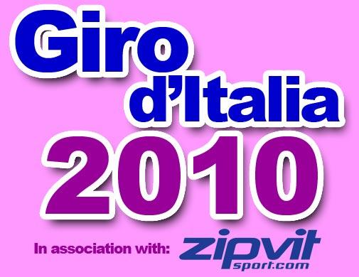 Giro d'Italia 2010 with Zipvit logo