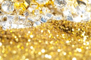 gold, diamonds