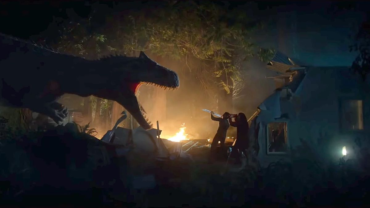 Jurassic World 3 prequel Battle at Big Rock features dinosaurs running amok