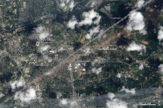 tuscaloosa tornado track satellite image