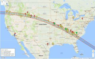 Total Solar Eclipse Map