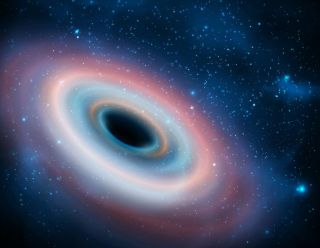 Spinning black hole.