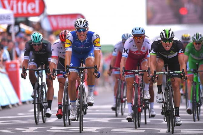 Marcel Kittel narrowly took stage 7 of the Tour de France ahead of Edvald Boasson Hagen.