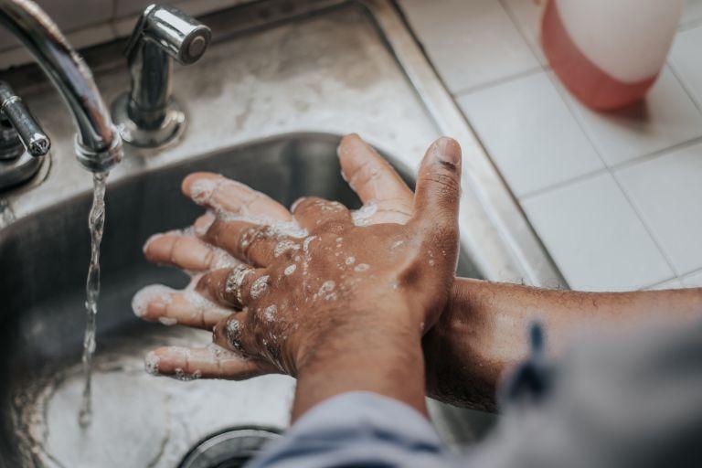 skin protection hand washing