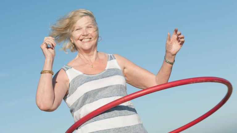How to get a slim waist tip #1: Hula hooping