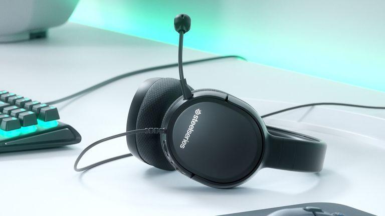 Best PC gaming headset hero image showing SteelSeries Arctis 1