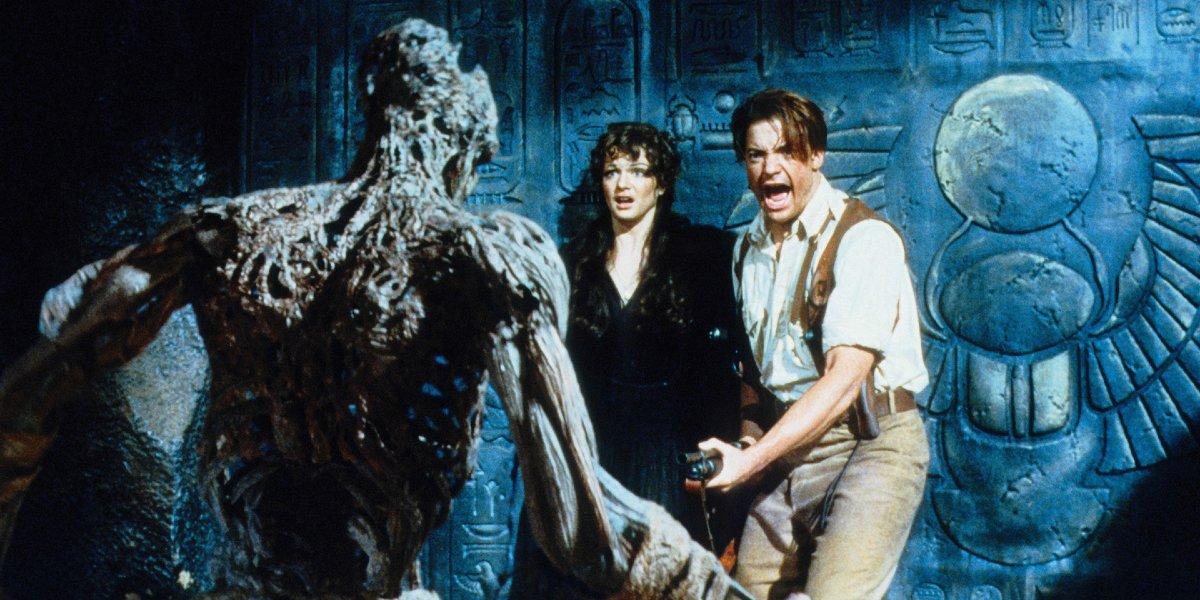Rachel Weisz and Brendan Fraser in The Mummy