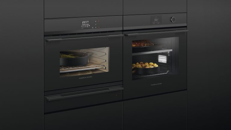 Fisher & Paykel double ovens arranged side by side