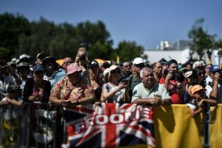 Crowds gather at the Tour de France to see Chris Froome