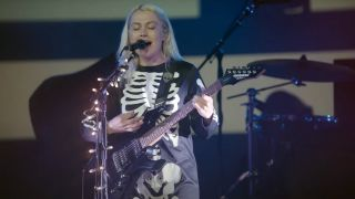 Phoebe Bridgers performs live with a BC Rich Warlock