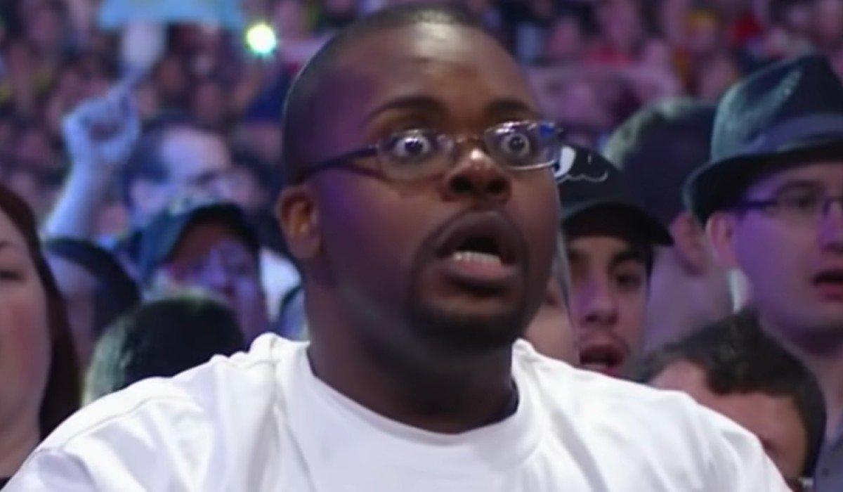 Shocked WWE Fan
