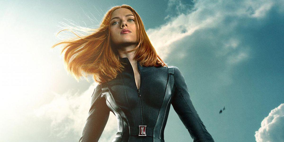 Natasha Romanoff (Scarlett Johansson) on Captain America: The Winter Soldier poster