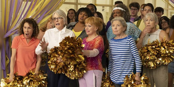 Poms Rhea Perlman Diane Keaton Jacki Weaver and the rest of the cast pulling faces of surprise
