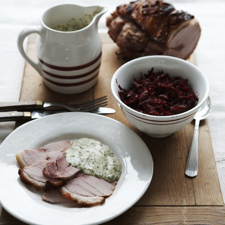 Ham cooked in Suffolk cider with parsley sauce recipe-recipe ideas-new recipes-woman and home