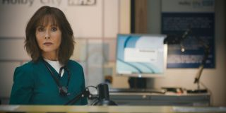 Connie Beauchamp gives Tina a cold stare in Casualty