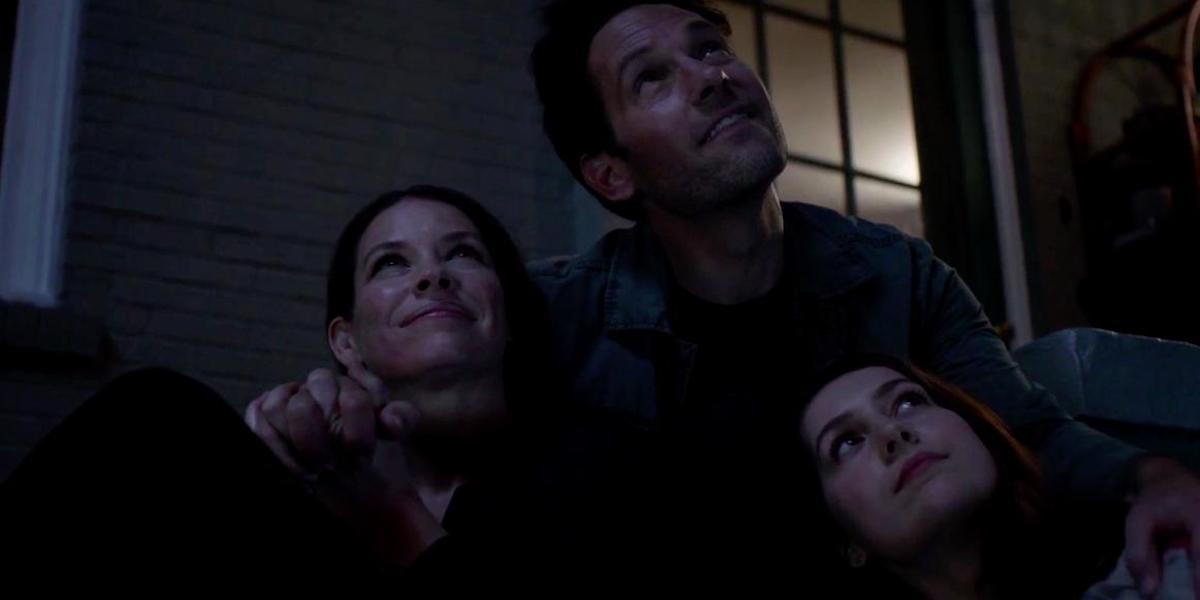 Ant-Man family, Evangeline Lily as Hope van Dyne, Paul Rudd as Scott Lang, Emma Fuhrmann as Cassie L